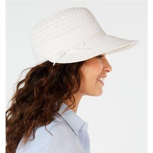 Nine West  Packable Framer Sun Hat White